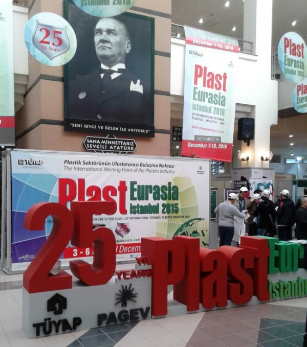 VISITING THE 25TH JUBILEE EDITION OF PLAST EURASIA 2015 IN ISTNABUL